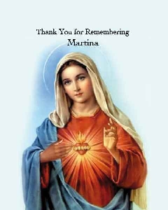 Memoriam Cards Sacred Heart of Mary 908