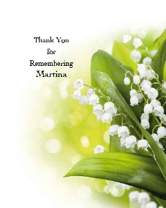 Memoriam Cards Lily of the Valley 914
