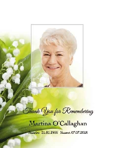 Memoriam Cards Lily of Valley 961E