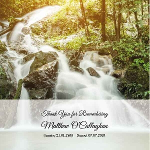 Memoriam Cards Waterfall 983F