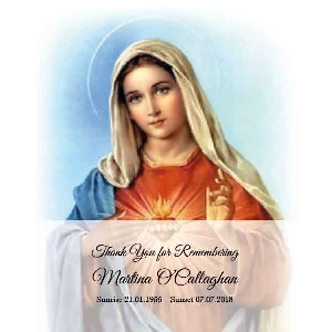 Memoriam Cards Sacred Heart of Mary 983J