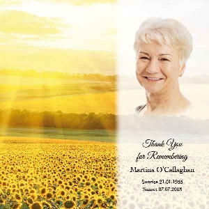 Memoriam Cards Sunflowers 984A
