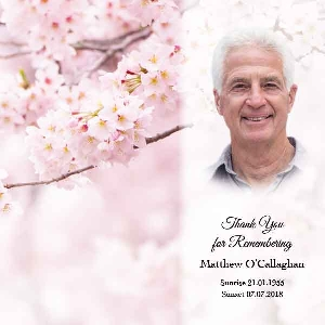 Memoriam Cards Blossoms 984B