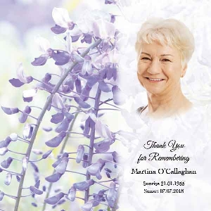 Memoriam Cards Flowers 984C