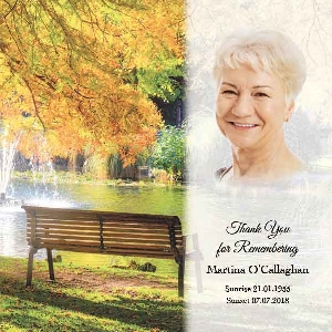 Memoriam Cards Bench 984G