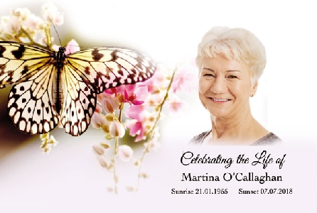 Memoriam Cards Butterfly 9102C