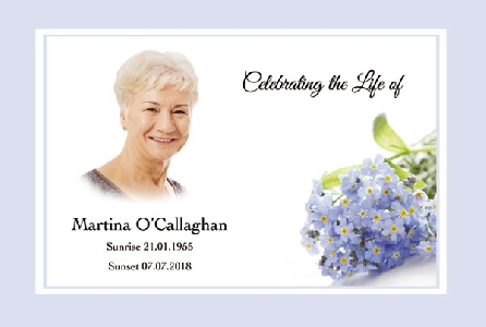Memoriam Cards Forget-Me-Knots 9105