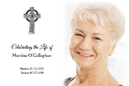 Memoriam Cards Celtic Cross 9107A