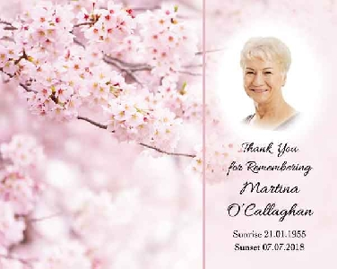Memoriam Cards Blossoms 9121B