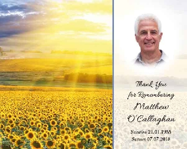 Memoriam Cards Sunflowers 9121C