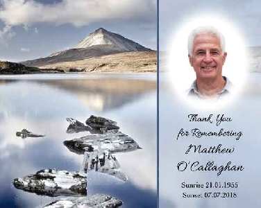 Memoriam Cards Lake 9121F