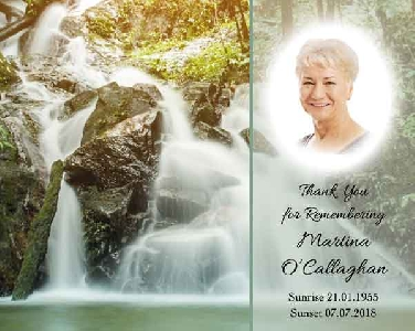 Memoriam Cards Waterfall 9121J