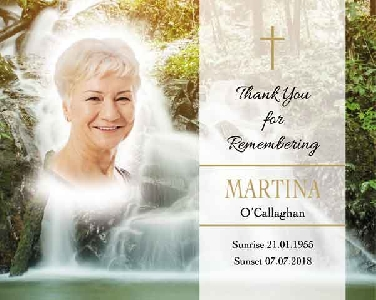 Memoriam Cards Waterfall 9123A