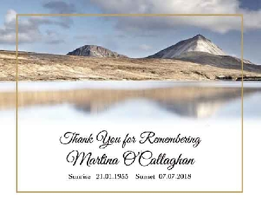 Memoriam Cards Lake 9124A