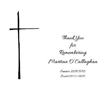 Memoriam Cards Cross 9126A