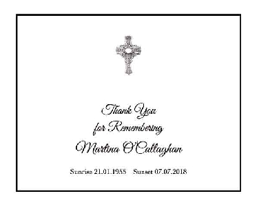 Memoriam Cards Cross 9127A