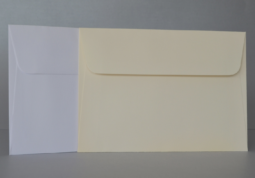 Wedding Stationery Ivory Envelopes 136x108