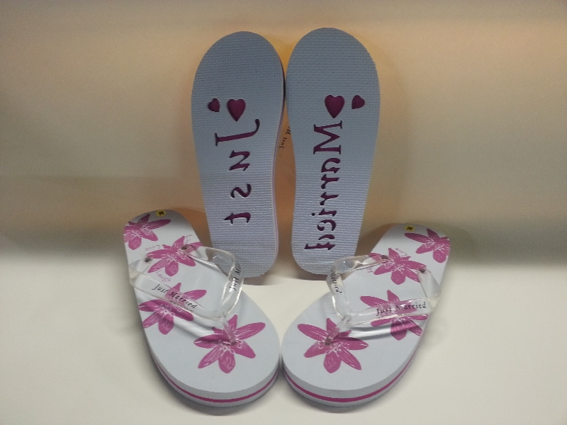 87f25a361 Just Married Flip Flops 3-5 - Just Married FF 3-4. Close. Image Enlargement.