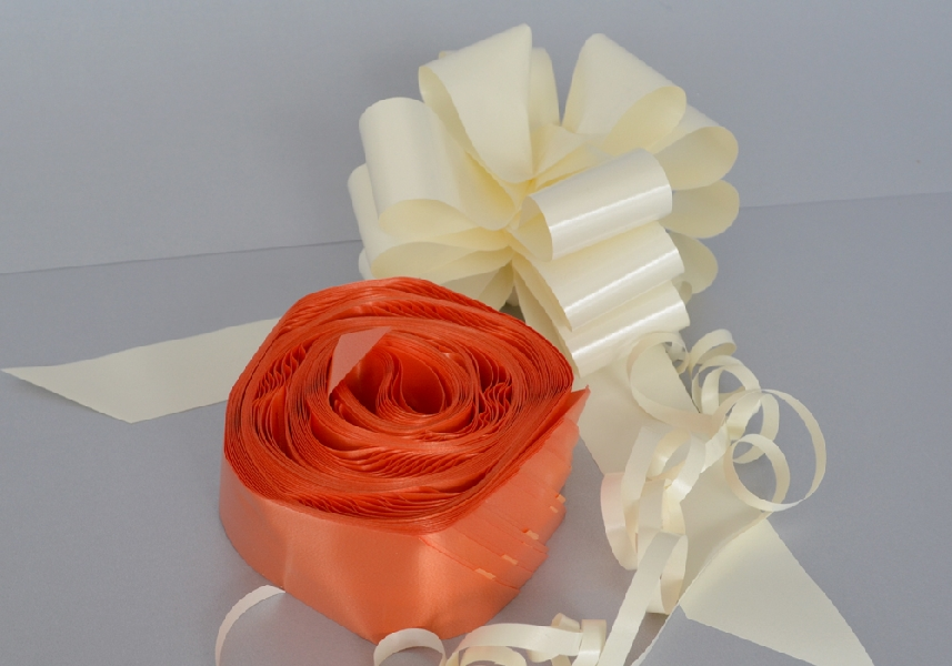 Wedding Stationery Tangerine Pull Bows