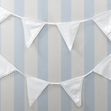 Wedding Stationery Fabric Bunting White