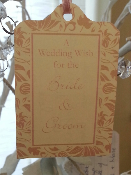 Wedding Stationery Wish Tag-Ivory Blossom