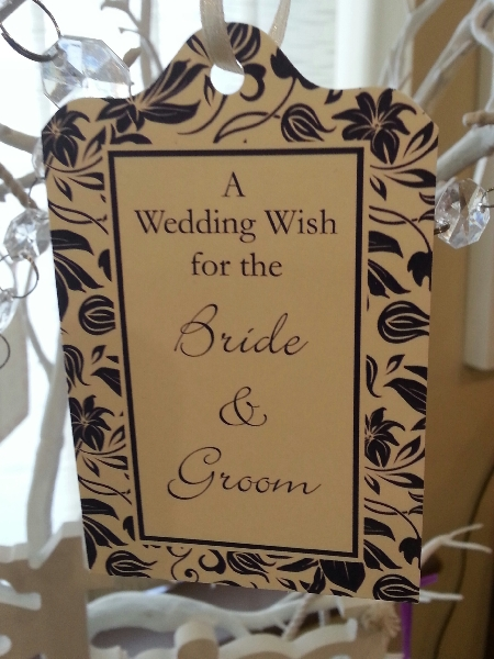 Wedding Stationery Wish Tag