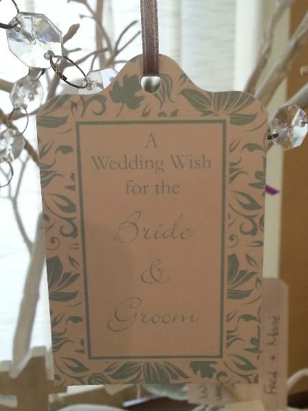 Wedding Stationery Wish Tag-White Turquoise