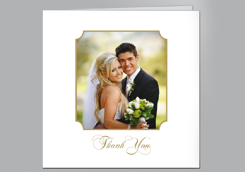 Wedding Stationery Reverse Corner Square Frame