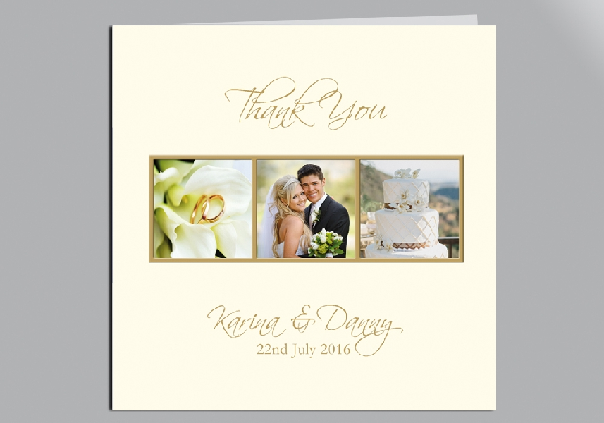 Wedding Stationery Three Photo Panel