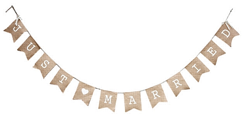 Wedding Stationery Just Married Bunting