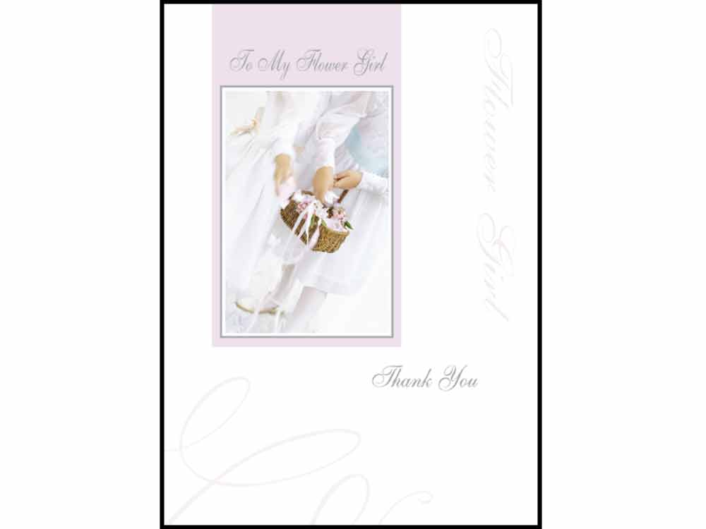 Wedding Stationery To my Flower Girl Thank You