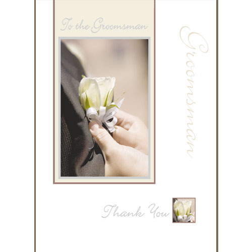 Wedding Stationery To the Groomsman Thank You