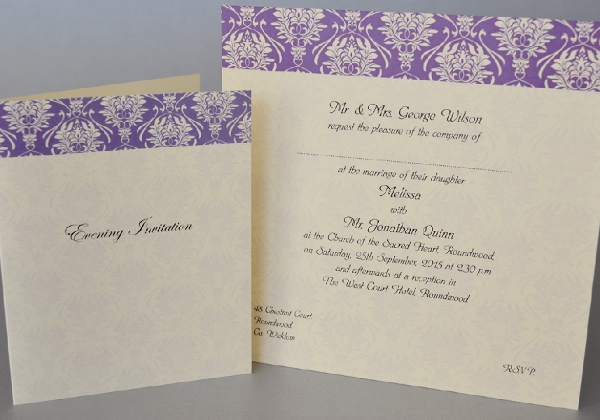 Wedding Stationery Flock Top Panel (332)