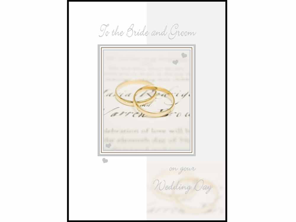 Wedding Stationery To The Bride and Groom