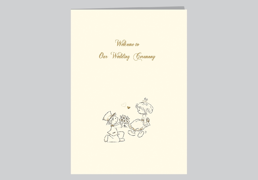 Wedding Stationery A5 Ceremony Cover
