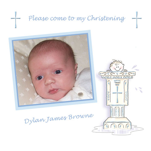 Baby Cards Boy Christening Card