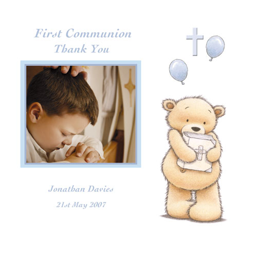 Baby Cards Communion Thank You Card Boy