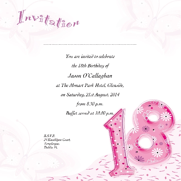 Occasion Card 18 1i