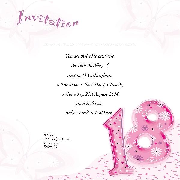 Occasion Card 18 1i 18th Birthday Wedding Invitations
