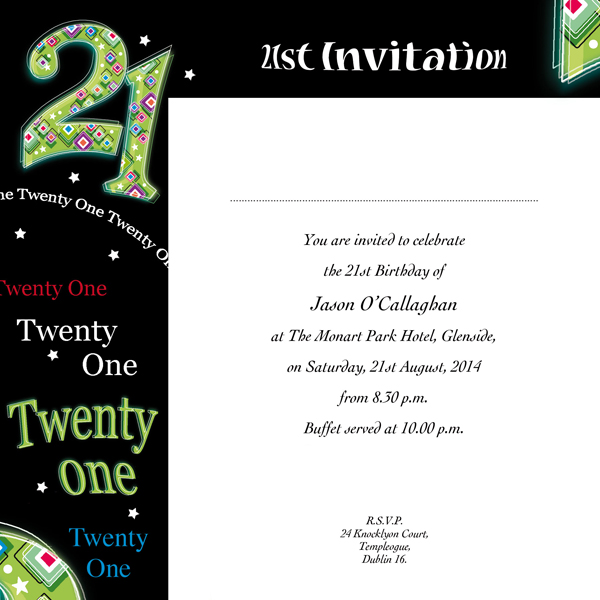 Occasion Card 21 3w