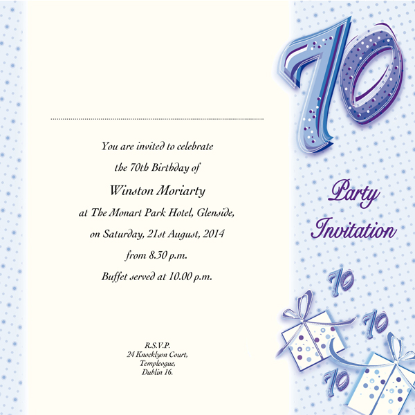Image of 70th Birthday