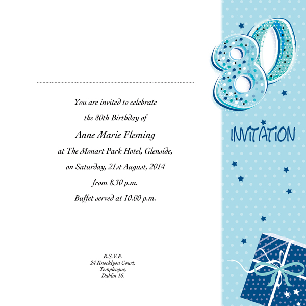 occasion card 80 1w 80th birthday wedding invitations