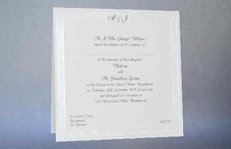 Wedding Stationery Set 309 Classic Pearl Border 309 Buy