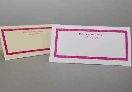 Wedding Stationery Set Pd 2 Colour Border With Names Buy Wedding