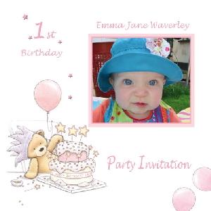 Baby Card B1g1 Girl Birthday Invitation Buy Personalised