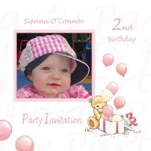 Baby Card B2g1 Girl Birthday Invitation Buy Personalised