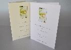 Wedding Stationery Rings on Lillies