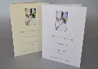 Wedding Stationery Bride and Groom with Bouquet