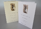 Wedding Stationery Sepia Bride and Groom