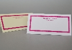 Wedding Stationery Colour Border with Names